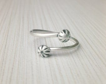 Recycled Sterling Silver Adjustable Ring