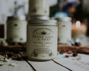 Patchouli Lavender Soy Wax Candle