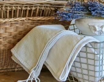 Vintage Natural Neutral Lovely French Grain Sacks