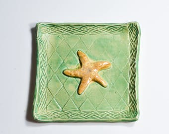 Starfish Tray - Ring Dish - Trinket Tray - Handmade Ceramic