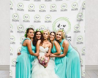 Custom Wedding Step and repeat backdrop, wedding logo backdrop, Wedding step & repeat backdrop, Step + repeat Backdrop / W-A06-TP HH7