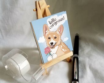 Mini Display Easel - Natural Wood