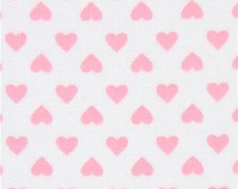 213126 white Robert Kaufman mini pink heart fabric Sevenberry Classiques