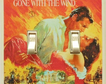 Classic movie posters Switchplates and MATCHING SCREWS- Casablanca- Sci fi poster movie posters home theater decor Gone with the Wind poster