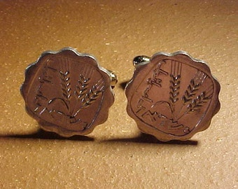Israel Coin Cuff Links