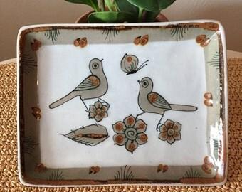 Green Tonala Bird Plate