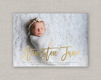 Baby Girl Birth Announcement - Anniston