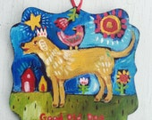 Personalized Hand Painted Dog Christmas Ornament