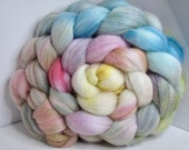 Polwarth/Bombyx/Firestar 60/20/20 Roving Combed Top - 5oz - Soft Sea 1