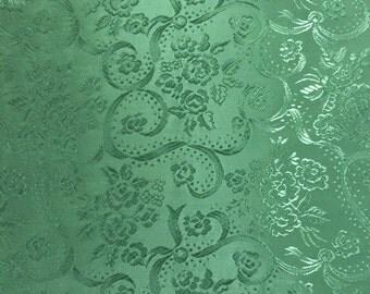 "Sea Mist Green/ Aqua Jessibelle Fabric 46"" wide Acetate Rosebar Bridal Eveningwear Jacquard"