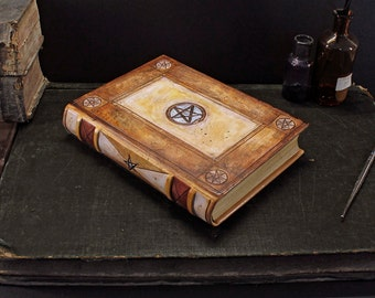 Alchemic leather journal, Natural brown leather - Ouroboros