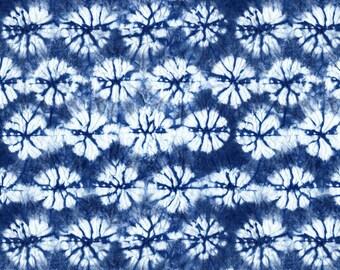 Indigo And White Fabric - Shibori 2 By Jillbyers - Indigo And White Cotton Fabric Home Decor By The Yard With Spoonflower
