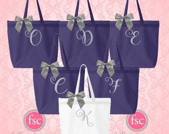 NEW! Monogrammed tote bags,bridal party tote bags , bridesmaid gifts , tote bags , beach bag, bachelorette party gifts , teacher gifts