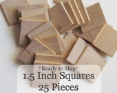 Unfinished Wooden Squares 1.5 inch, Pack of 25