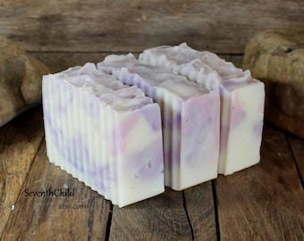 Lilac Handmade Soap / Shampoo - Conditioning & Gentle - Vegan - One 6 Ounce +/- Bar
