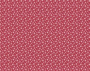 Tilda Fabric, Tilda Ilse Carmine Red Fat Quarter, Sweetheart Collection, Tilda Cotton Fabric 481031, Fat Quarter, 50 cm x 55 cm