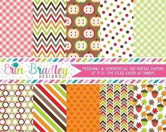50% OFF SALE Fall Digital Paper Pack Commercial Use Instant Download