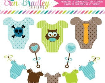 50% OFF SALE Baby Boy Tees Clipart Commercial Use Nursery Clip Art Graphics