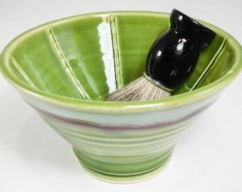 Shaving Dish - Large Wet Shaving Pottery - Wet Shave Ceramic - Wetshaving Dish - Shave Bowl - Wet Shaving Dish - Clay Shaving Dish - InStock