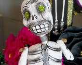 Vintage Paper Mache Skull- Perfect for your Day of the Dead Altar