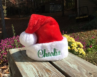INFANT size personalized infant Santa Hat.  INFANT size.  Lots of font choices.