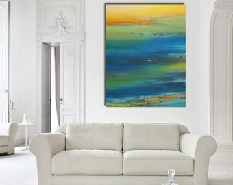 Original large abstract painting wall art deco by Elsisy 48x36 sale