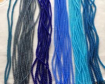 Czech Glass Druk Beads (100) 4mm Blue Beads, Blue 4mm Round Glass Druks, Jewelry Supplies