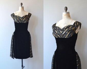 Adelphi dress | vintage 1950s party dress | velvet 50s dress