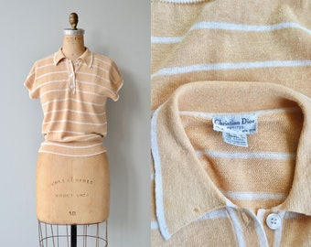 Christian Dior sweater   vintage 1980s sweater   striped Dior top