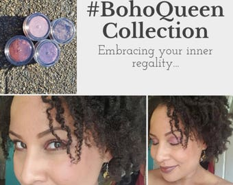 BohoQueen Collection BOLD Palette - Longlasting, Natural Mineral Eyeshadow for Sensitive Eyes, Neutral Eyeshadow,  Shimmer Shades