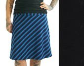 Basic Skirt Knee Length - L - JET BLACK - Organic Cotton/Lycra