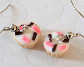 Pink&Chocolate Cupcake Earrings