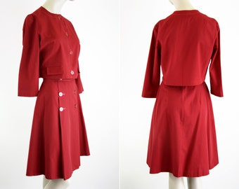 Russ Brand Vintage Red Woman's Skirt and Blouse