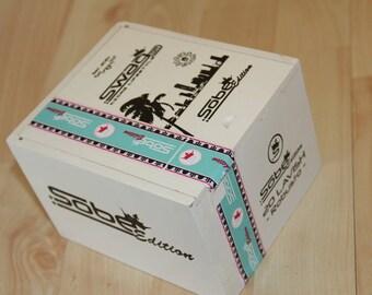 Wood Cigar Box - Swag Dr Sobe White  29