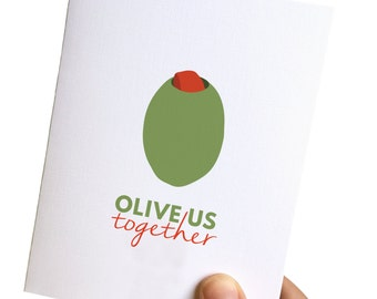 anniversary card // love you card // wedding anniversary card // olive us together // love you card // greeting cards love for him // love