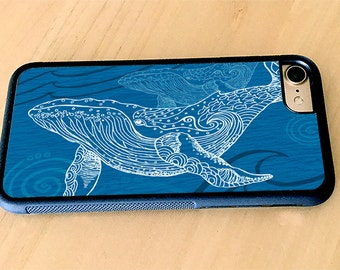 Whale One Color iPhone Case, Rubber iPhone 5/5s, iPhone 6/6s, iPhone 6 Plus, iPhone 7, iPhone 7 Plus