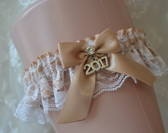 Champagne Prom Garters, Prom Garter, Custom Made Prom Garter, Champagne Garter Belt,Champagne Lace Prom Garter belt, Prom Garter 2017 Prom