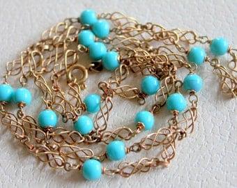 14k Solid Gold UNO-A-ERRE Italian Designer Yellow Gold Unique Chain Necklace