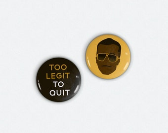 Magnets - MC Hammer Inspired Original Illustrated 1 in Magnets set of 2