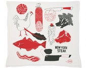 Meat and Vegetable Tea Towel