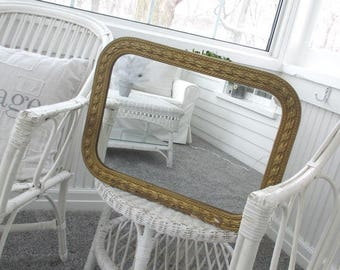 Vintage Gesso Mirror * Shabby Chic * Cottage * Old Farmhouse