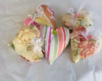 Valentine Fabric hearts