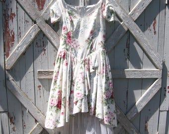 1990s Lorelei floral prom dress 16 L XL
