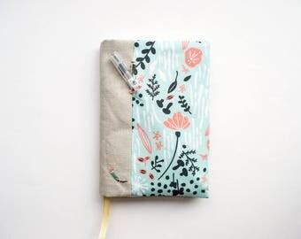 Botanical Springtime- Jot of Ideas fabric A6 Bookcover