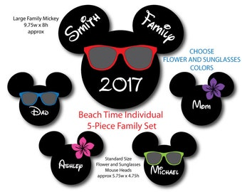 Disney Inspired 5-Piece Beach Time Family Set for Disney Cruise