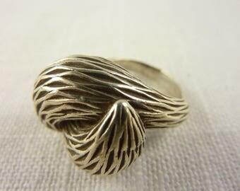 Vintage Handmade Modernist Sterling Silver Ring Size 8