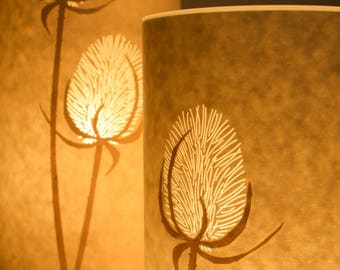 Flower Paper Table Lamp / Tall / Teasles / Hannah Nunn