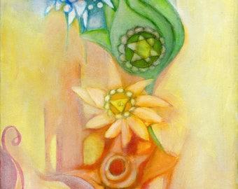 Meditation Art - Chakra art - Chakra Colors - Chakra art print - Reiki Healing - Chakra healing - Meditation Artwork - meditation wall art