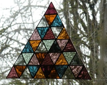 Custom order Stained Glass Triangle