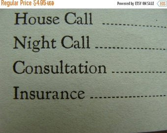 ONSALE Amazing Antique Unused Medical House Call Invoice Lot Prices will Blow you Away